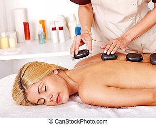 женщина, массаж, получение