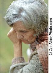 женщина, пожилой, мышление