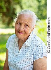 женщина, пожилой, хороший
