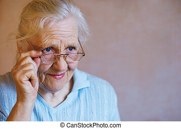 женщина, пожилой, glasses