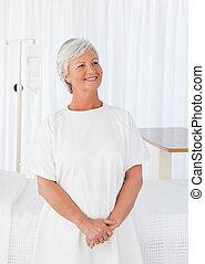женщина, счастливый, больница