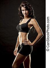 женщина, фитнес