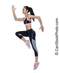 женщина, exercises, фитнес, isolated