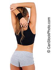 женщина, isolated, фитнес