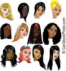 женщины, faces, 3