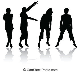 женщины, silhouettes