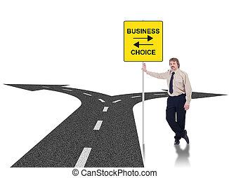 жесткий, бизнес, choices, концепция