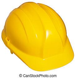 жесткий, шапка, желтый