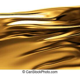 жидкость, золото