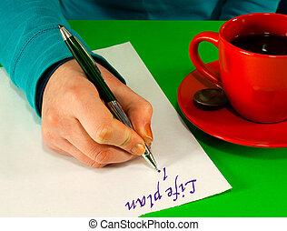 жизнь, рука, план, female's, письмо