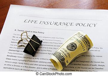 жизнь, rolled, вверх, денежные средства, политика, страхование