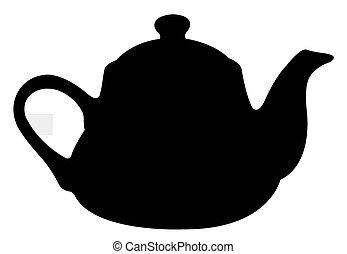 заварочный чайник, силуэт