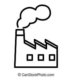 завод, производство, иллюстрация, дизайн