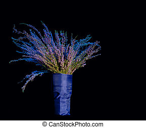 задавать, элегантный, букет, background., черный, цветы
