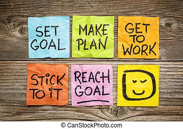 задавать, and, достичь, цель, концепция