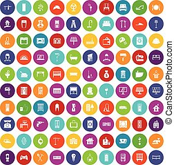 задавать, icons, цвет, дом, удобный, 100