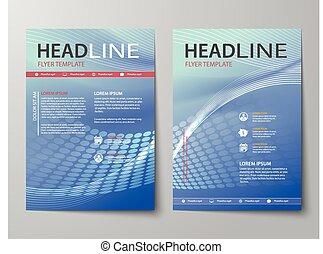 задавать, of, абстрактные, бизнес, журнал, обложка, листовка, брошюра, квартира, дизайн, шаблон