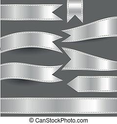 задавать, of, серебряный, ribbons