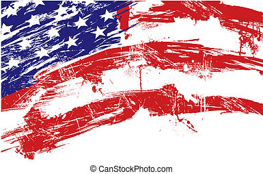 задний план, американская, флаг