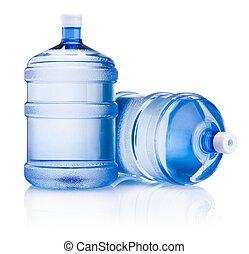 задний план, большой, isolated, два, воды, бутылка, белый