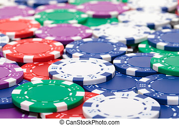 задний план, из, of, многоцветный, покер, чипсы