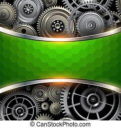 задний план, металл, gears