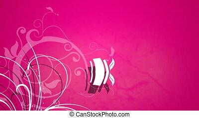 задний план, vines, против, выращивание, розовый