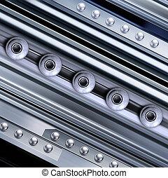 задний план, with, rivets