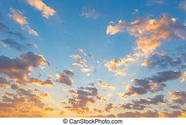 закат солнца, небо