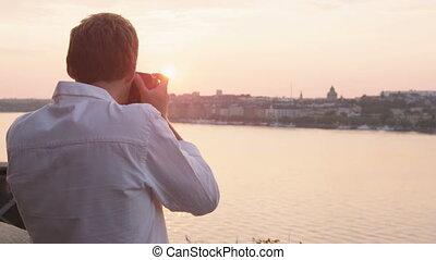 закат солнца, стокгольм, фотограф, принятие, pictures