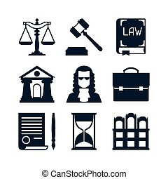 закон, icons, задавать, в, квартира, дизайн, style.