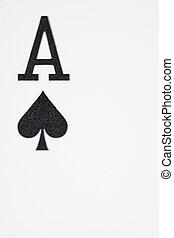 закрыть, вверх, of, туз, of, spades