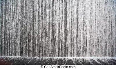 закрыть, выстрел, на, искусственный, водопад, indoor