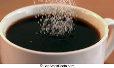 заливка, кофе, сахар, кружка