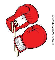 заниматься боксом, перчатка