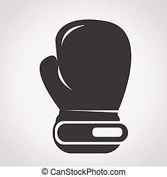 заниматься боксом, перчатка, значок