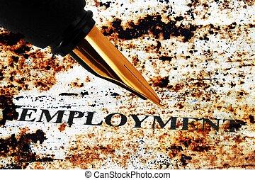 занятость, ручка, фонтан