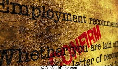 занятость, форма, подтвердить