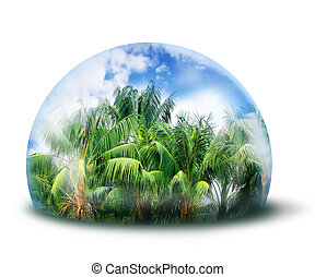 защищать, джунгли, натуральный, окружающая среда, концепция