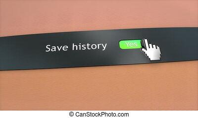 заявление, настройка, спасти, история