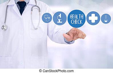 за работой, врач, медицинская, лекарственное средство, компьютер, здоровье, интерфейс, проверить