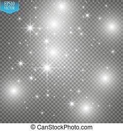 звезда, illustration., след, isolated, сверкающий, волна,...