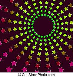 звездный, абстрактные, seventies, -, шестидесятые годы, ретро, задний план, шаблон