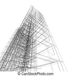 здание, абстрактные