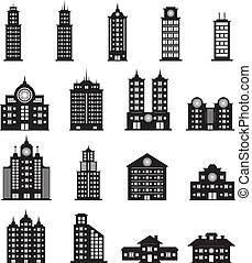 здание, вектор, задавать