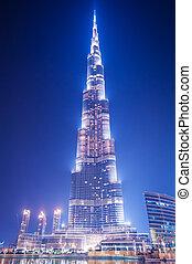 здание, в центре города, khalifa, tallest, 7:, 7, -, metres, 2010, июнь, 828, uae., world., burj, uae, dubai., дубай