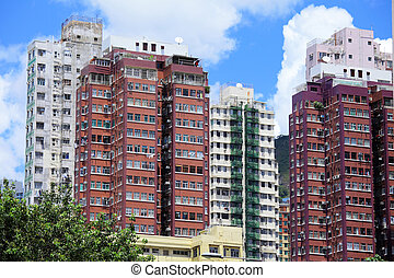 здание, главная, hong, kong