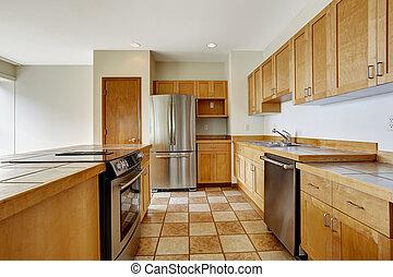 здание, квартира, room., жилой, studio., пустой, кухня