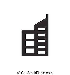 здание, коммерческая, значок