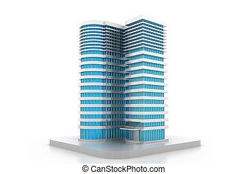 здание, модель, 3d